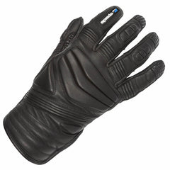 Spada Summer Salt Flats Motorcycle Motorbike Leather Strap Gloves - Black - Spada -  - MSG BIKE GEAR - 1