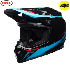 Bell MX 2018 MX-9 MIPS MX Helmet - Torch Black / Cyan / Red