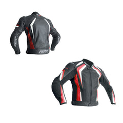 RST 2069 R-18 CE Approved Leather Jacket - Red