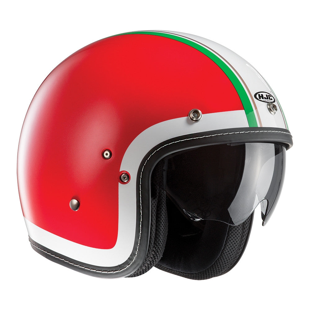 HJC FG-70S Open Face DVS Motorcycle Scooter Helmet - Heritage MC1F Red - HJC -  - MSG BIKE GEAR - 1