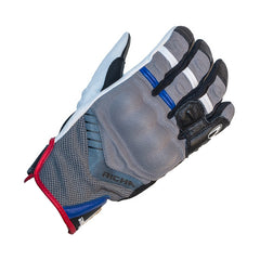 Richa Desert Motorbike Motorcycle Gloves + CE Knuckle - Grey/Blue - Richa -  - MSG BIKE GEAR