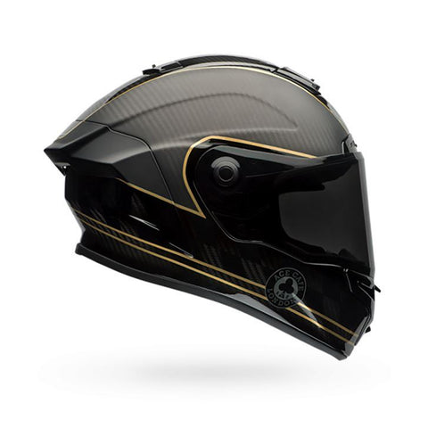 Bell 2017 Race Star Full Face Motorcycle Helmet - Check Matte Black/Gold - Bell -  - MSG BIKE GEAR - 1