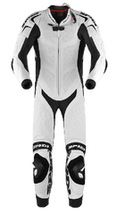 Spidi Replica Piloti Wind Leather Suit White/Black