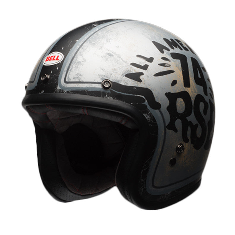 Bell 2017 Custom 500 Open Face Motorcycle Helmet - RSD 74 Black/Silver - Bell -  - MSG BIKE GEAR - 1