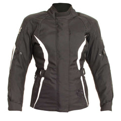 RST Ladies 1255 Diva III Ladies Textile Jacket - Black/White - SALE