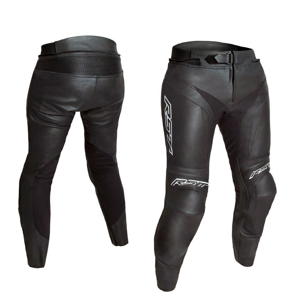 RST 2936 Blade II CE Approved Ladies Leather Motorcycle Motorbike Jeans - Black