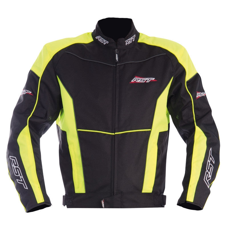 RST Urban 1356 Armoured Waterproof Textile Sports Motorcycle Jacket - Black/Yellow - RST -  - MSG BIKE GEAR