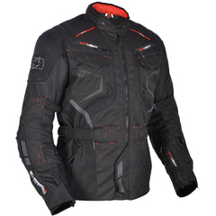 Oxford Ankara Long Waterproof Textile Motorcycle Jacket Tech Black - Oxford -  - MSG BIKE GEAR - 1