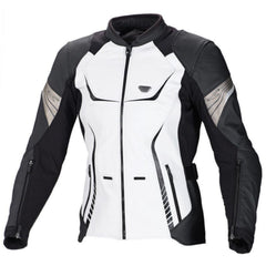 Macna Orient Ladies Leather Touring Jacket - Black / White