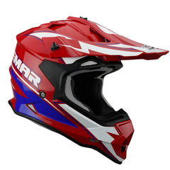 Vemar Taku Eye MX Motocros ATV Quad Motorbike Off Road Helmet - Red/White
