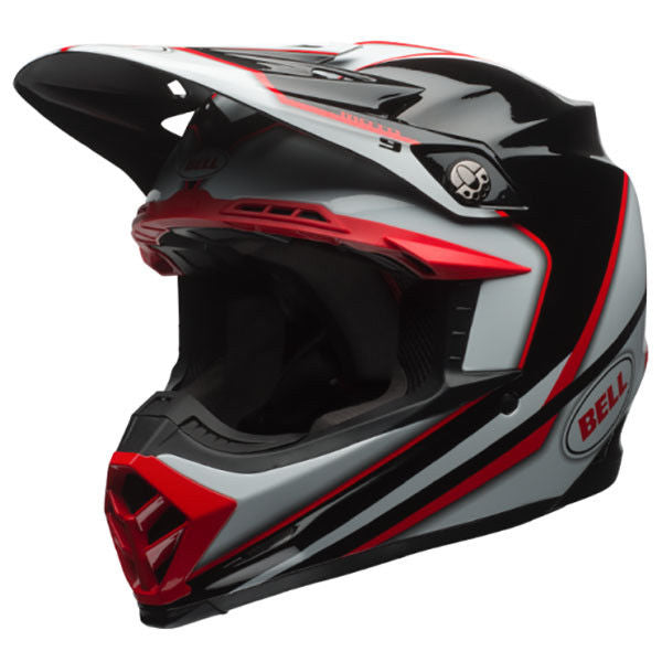 Bell 2017 MX Moto 9 Motorcycle Motorbike Spark Helmet - Red/Black
