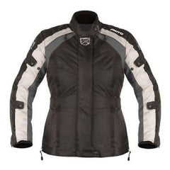 Akito Tornado Ladies Motorcycle Textile Waterproof Jacket Black/Gun