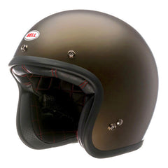 Bell Custom 500 Retro Open Face Helmet - Matt Brown