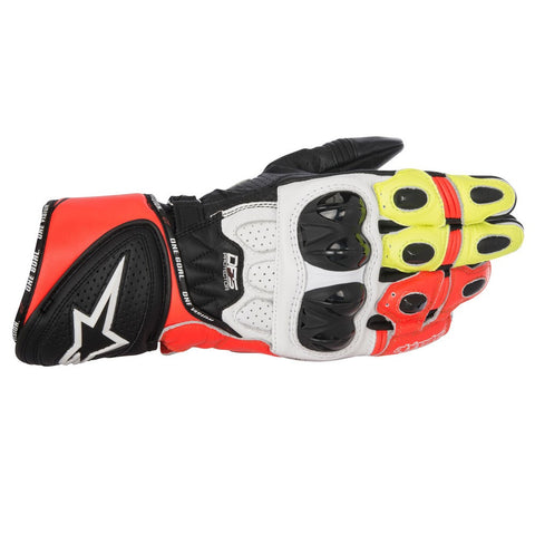 Alpinestars SP Plus R Sports Motorcycle Gloves - White/Black/Red/Yellow