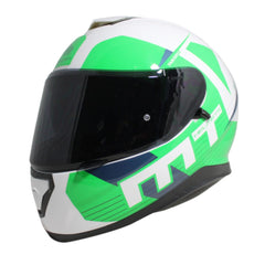 MT Thunder 3 SV Ray Full Face Helmets - White/Green/Blue