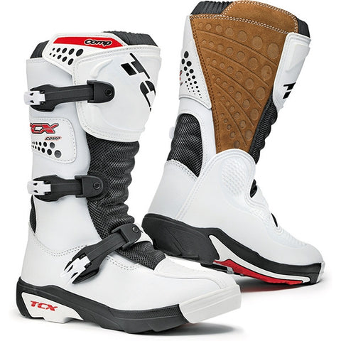 TCX Comp Kids MX ENDURO Youth Junior Childrens Off Road Motocross Boots White - TCX -  - MSG BIKE GEAR - 1