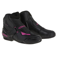 Alpinestars Stella SMX-1 R Ladies Short Ankle Motorcycle Boots - Black/Pink - Alpinestars -  - MSG BIKE GEAR - 1