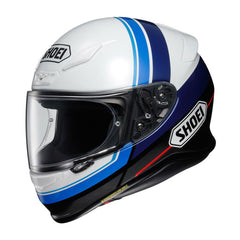 Shoei NXR Philosopher TC2 Motorcycle Motorbike Helmet - White/Blue