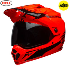 Bell 2018 MX-9 Adventure MIPS Helmet - Torch Orange / Black