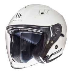 MT Avenue SV Open Face Helmets - Solid White
