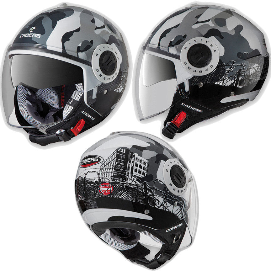 CABERG RIVIERA V2+ COMMANDER OPEN FACE DVS MOTORCYCLE SCOOTER HELMET - Caberg -  - MSG BIKE GEAR