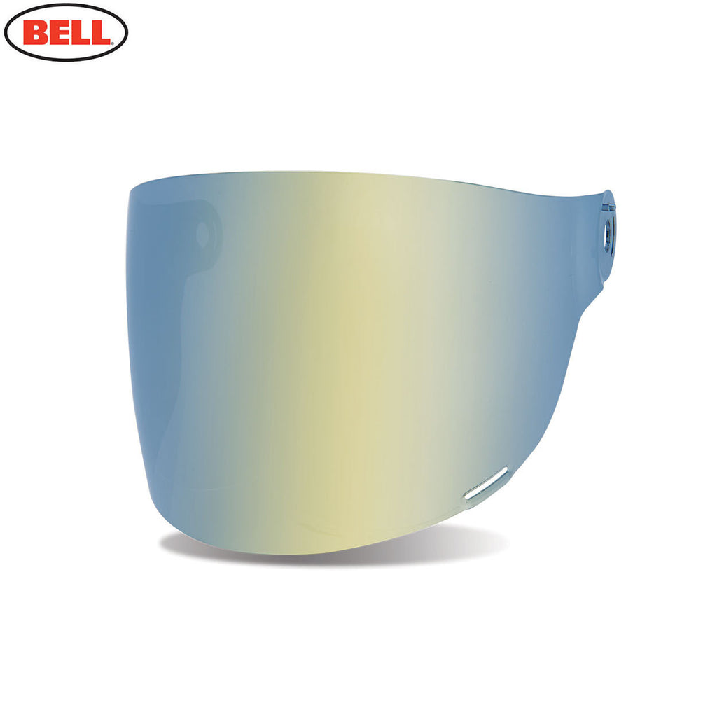 Bell Bullitt Helmet Flat Shield / Visor (Black Tabs) Dark Gold Iridium - Bell -  - MSG BIKE GEAR