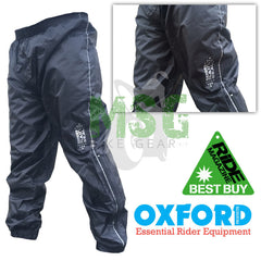 Oxford Rainseal Waterproof Motorcycle Over Trousers - SALE - Oxford -  - MSG BIKE GEAR - 1
