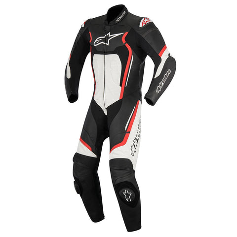 Alpinestars Motegi V2 1 Pc Track Race Leather Motorcycle Suit Black/White/Red