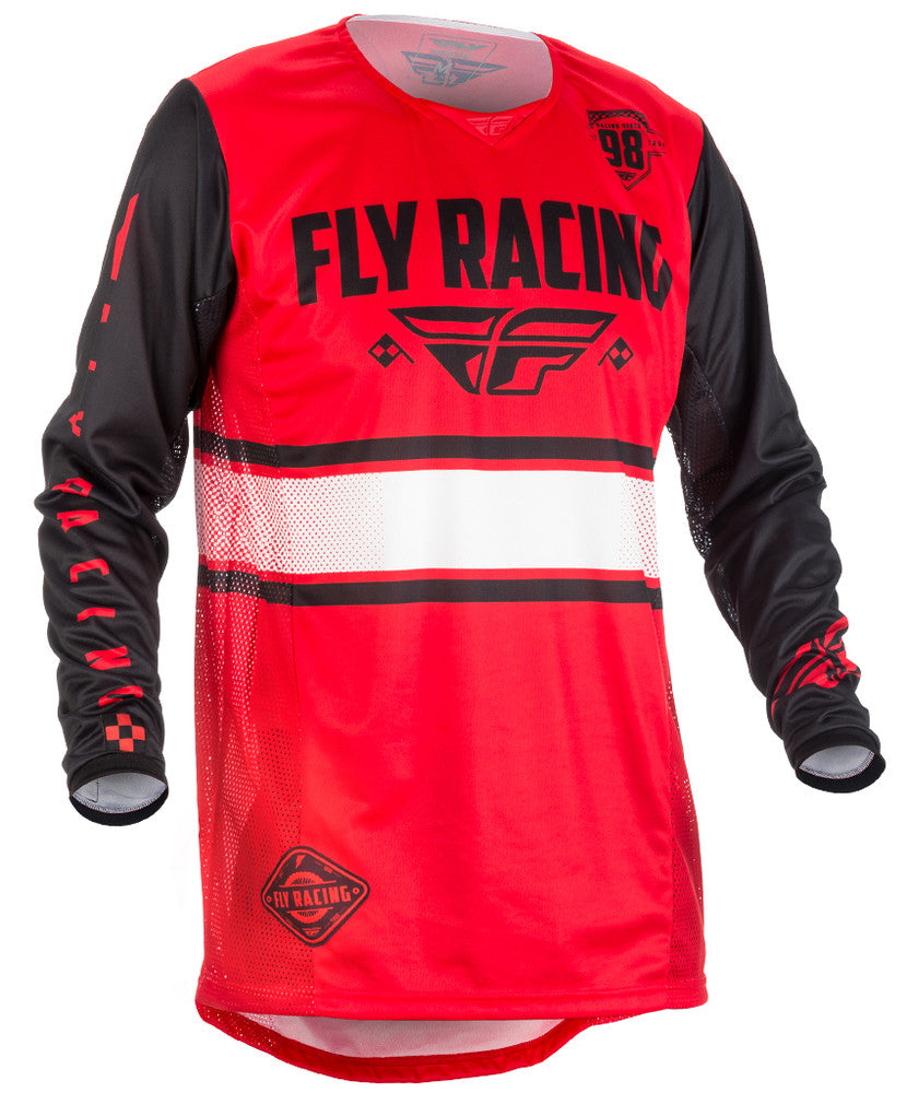 Fly Racing 2018 Kinetic Era MX Jersey - Red / Black