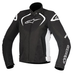 Alpinestars Stella T-JAWS Ladies Waterproof Motorcycle Jacket - Black/White - Alpinestars -  - MSG BIKE GEAR - 1