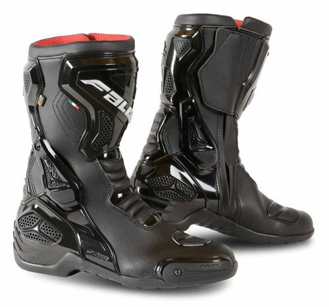 Falco Fenix Leather Waterproof Motorbike Touring Motorcycle Boots - Black - Falco -  - MSG BIKE GEAR
