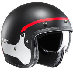 HJC FG-70S Modik Open Face Helmet - Red/Black MC1SF