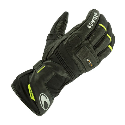 Richa Typhoon GTX Waterproof Leather/Textile Gloves - Black/Fluo