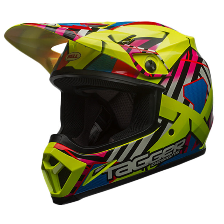 Bell MX-9 MIPS Motocross Off Road Helmet-Tagger Double Trouble Hi-Viz Yellow - Bell -  - MSG BIKE GEAR - 1