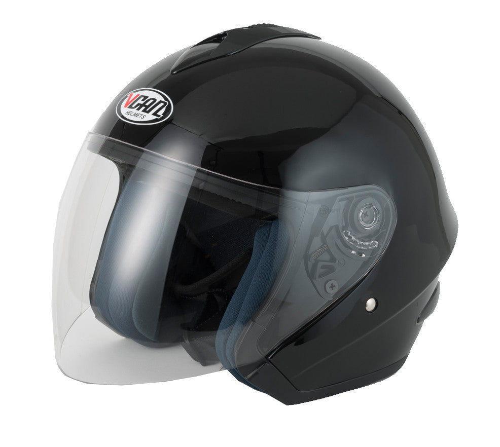 Vcan V510 Open Face Helmet - Gloss Black
