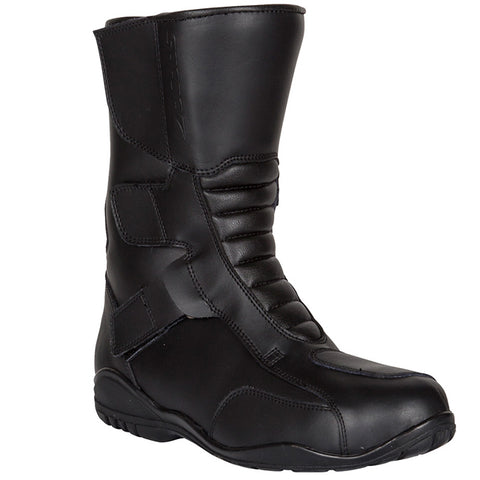 SPADA TRI-FLEX TOURING WATERPROOF VELCRO MOTORCYCLE BOOTS - BLACK - Spada -  - MSG BIKE GEAR - 1