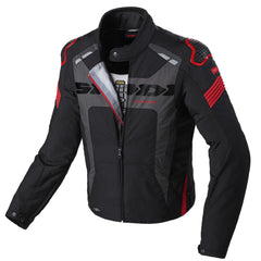 Spidi Warrior H2Out WP Textile Jacket - Black / Red
