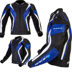 SPADA CURVE WATERPROOF MOTORCYCLE  LEATHER JACKET - BLACK/BLUE/WHITE new - Spada -  - MSG BIKE GEAR