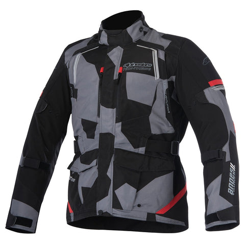Alpinestars Andes V2 Drystar Waterproof Motorcycle Jacket Black/Camo Red