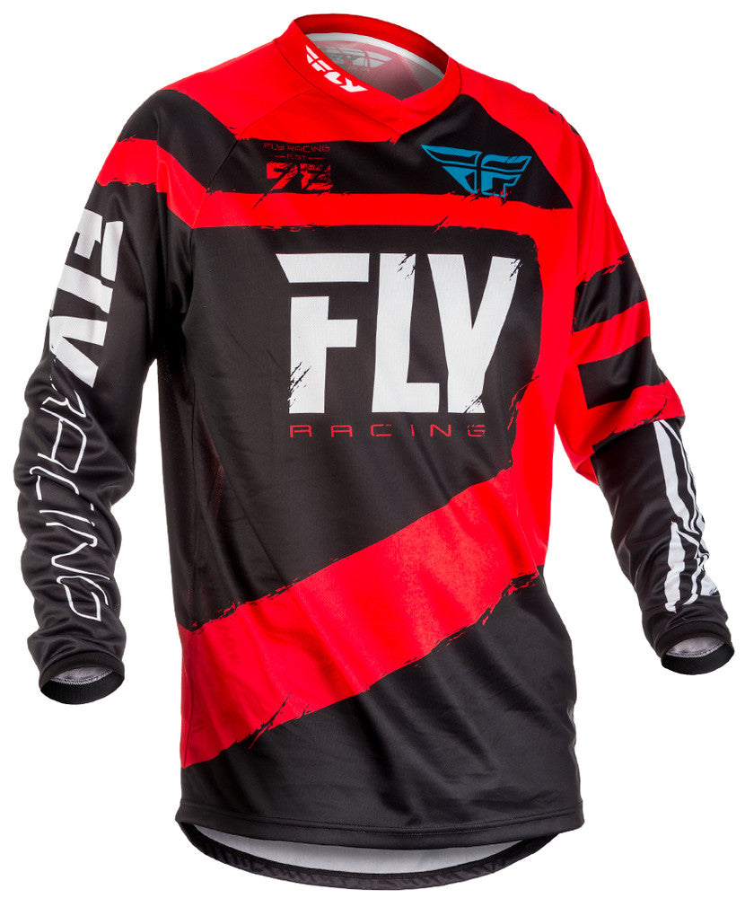 Fly Racing 2018 F-16 Youth MX Jersey - Red / Black