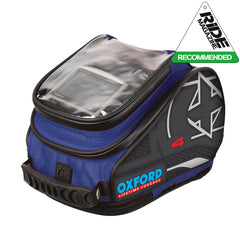 Oxford X4 QR Quick Release Motorbike Motorcycle Tank Bag - 4 Litres - BLUE - Oxford -  - MSG BIKE GEAR - 1