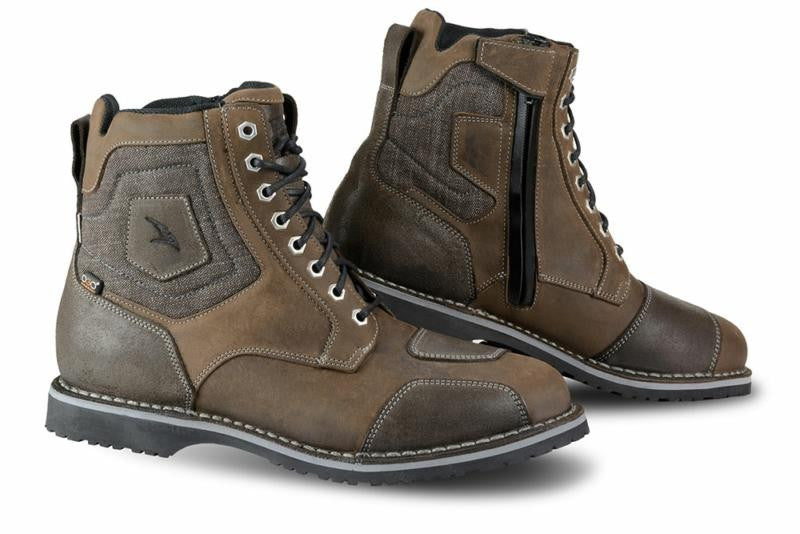 Falco Ranger Waterproof Motorbike Motorcycle Short Boots - Dark Brown - Falco -  - MSG BIKE GEAR - 1