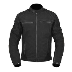 ARMR Nubakku Leather Motorcycle Jacket - Black