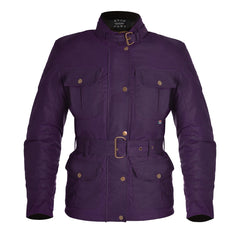 Oxford Bradwell Waxed Waterproof Ladies Jacket - Violet