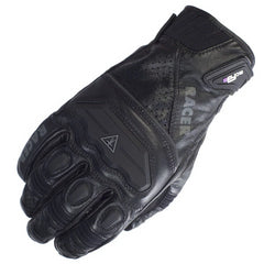 RACER GUIDE LEATHER & TEXTILE SUMMER MOTORCYCLE GLOVES BLACK - RACER -  - MSG BIKE GEAR