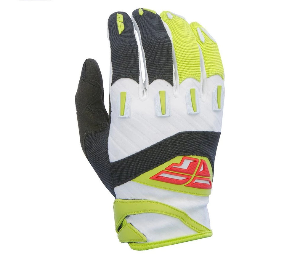 Fly Racing F-16 Adult Motocross Gloves (2017) -  Black / Lime