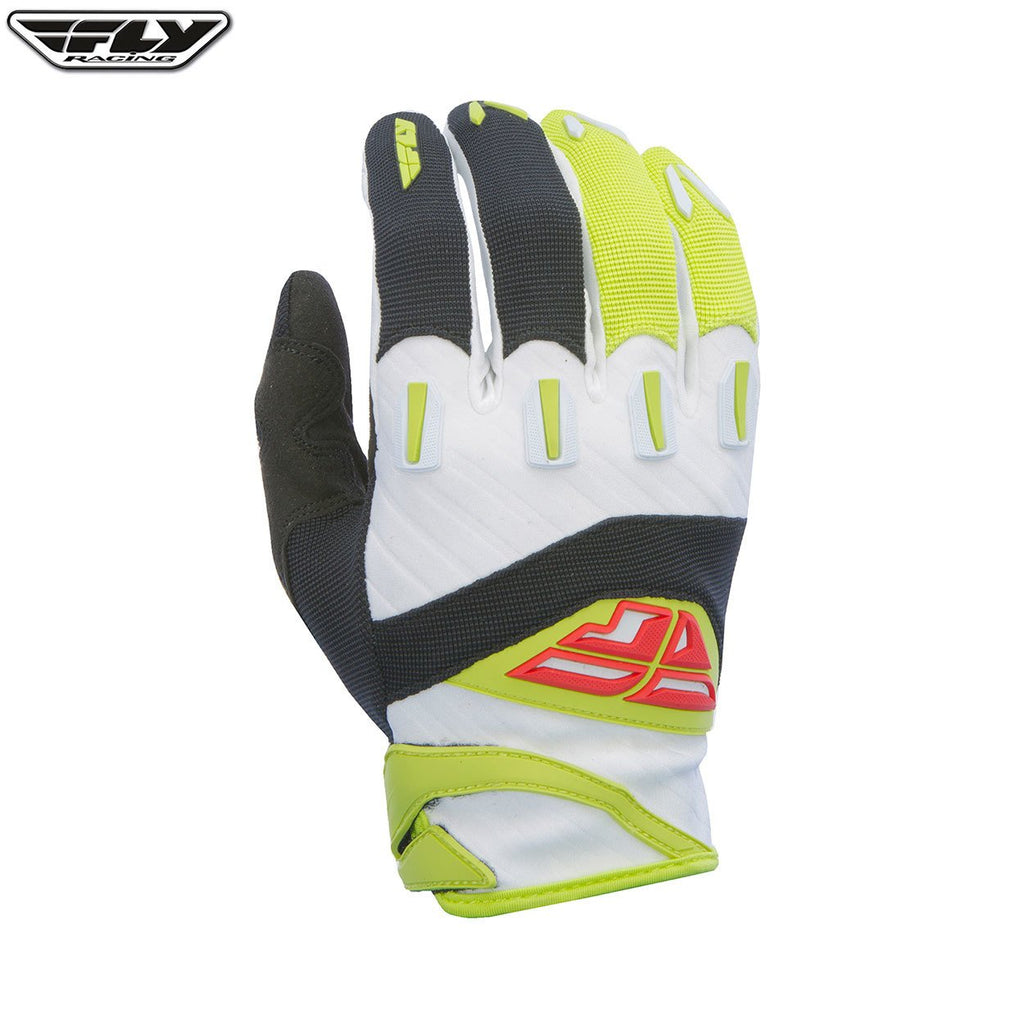 Fly Racing F-16 Youth Motocross Gloves (2017) -  Black / Lime