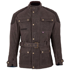 SPADA STAFFY DRY WAXED COTTON WATERPROOF MOTORCYCLE JACKET - BROWN NEW - Spada -  - MSG BIKE GEAR - 1