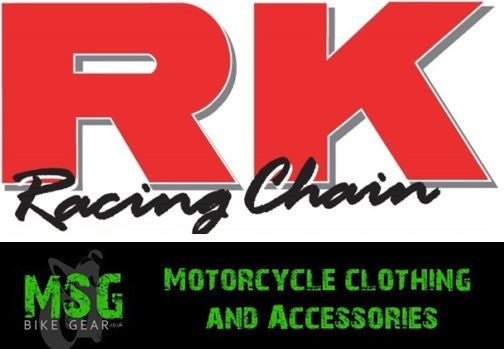 RK GS530L MOTORCYCLE MOTORBIKE CHAIN GOLD* - Csk -  - MSG BIKE GEAR