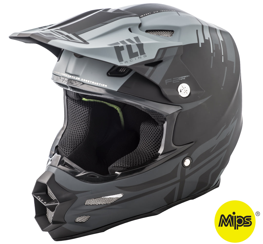 Fly 2018 F2 Carbon Mips Forge MX Helmet - Grey / Black